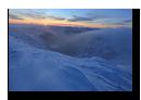 Leve de soleil, Massif du Hohneck enneige, La Bresse, Vosges, France