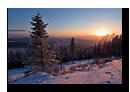 Coucher de soleil au dessus de la Forêt Noire en Allemagne