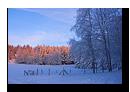 Coucher de la soleil hivernal sur la Fôret Noire en Allemagne