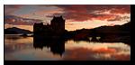 Crepuscule, Eilean Donan Castle, Loch Duich, Dornie, Lochalsh, Scotland