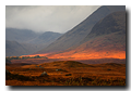 Red light, Rannoch Moor, Lochaber, Highlands, Scotland