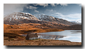 Cottage, Loch Stack, Sutherland, Highlands, Scotland